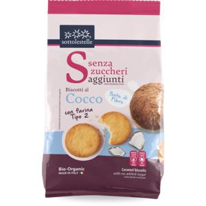 Sotto Le Stelle Biscotti senza Zucchero Farina Tipo 2 e Cocco Bio