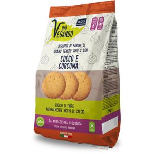 Biovegando Biscotti Cocco e Curcuma Bio