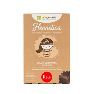 La Saponaria Hennetica color Castagno Bio 100gr