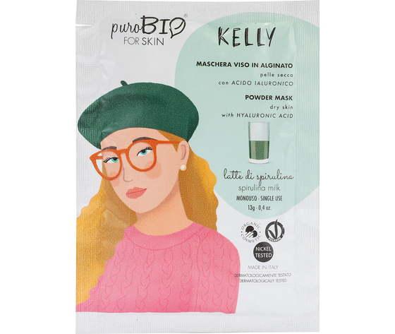 Purobio cosmetics forskin kelly maschera viso in alginato per pelle secca anniversary2019 09 latte di spirulina 1170938 it