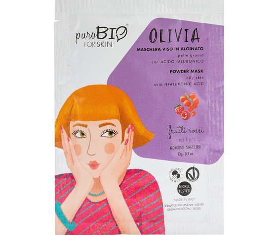 Purobio cosmetics forskin olivia maschera viso in alginato per pelle grassa anniversary2019 10 frutti rossi 1170858 it