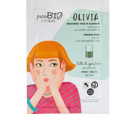 Purobio cosmetics forskin olivia maschera viso in alginato per pelle grassa anniversary2019 12 latte di spirulina 1170878 it