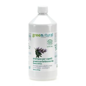 Greenatural Shampoo Anti-Forfora Salvia & Ortica Bio 1lt