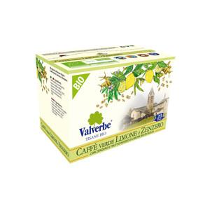 Valverbe Caffè Verde Limone e Zenzero Bio 20 filtri