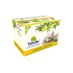 Valverbe Infuso Limone e Zenzero bio 20 filtri