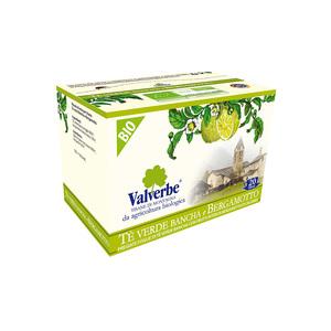 Valverbe Te' Verde e Bergamotto Bio 20 filtri