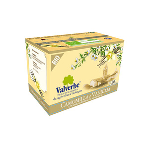 Valverbe Tisana Camomilla e Vaniglia Bio 20 filtri