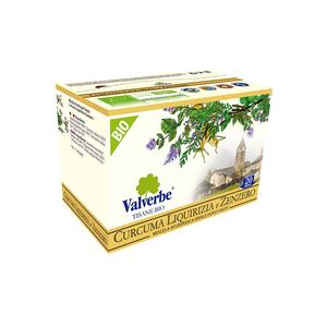 Valverbe Tisana Curcuma Liquirizia e Zenzero Bio 20 filtri