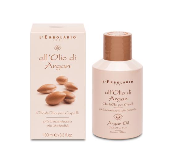 Olio per capelli all'olio di argan