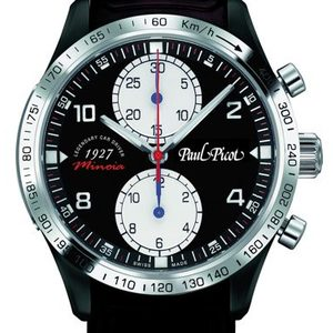 PAUL PICOT GENTLEMAN MINOIA Limited Edition CHRONOGRAPH 42 mm Black PVD Automatic Black Dial 2127SPVD/MINO