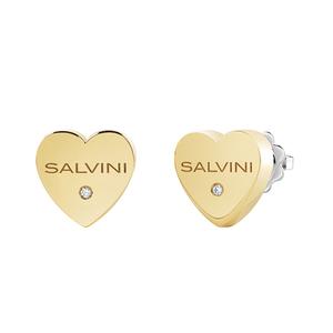 SALVINI I SEGNI Orecchini CUORI in oro giallo con diamante 20081111