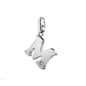 SALVINI CHARMS OF LOVE Ciondolo LETTERA M in argento con diamante 20077302