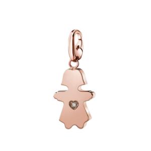 SALVINI CHARMS OF LOVE Ciondolo BIMBA in argento rosa con diamante 20077079