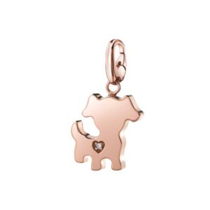 SALVINI CHARMS OF LOVE Ciondolo CANE in argento rosa con diamante 20077080