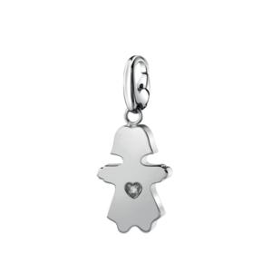 SALVINI CHARMS OF LOVE Ciondolo Bimba in argento con diamante 20077075