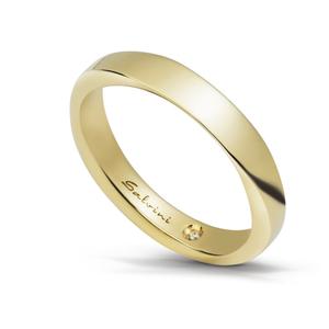 SALVINI FEDE MATRIMONIALE INFINITY 3.00mm Oro Giallo Misura 18 con diamante interno 0.005  20054470