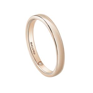 SALVINI FEDE MATRIMONIALE BATTITO 3.00mm Oro Rosa Misura 19 con diamante interno 0.005 GH 20077756