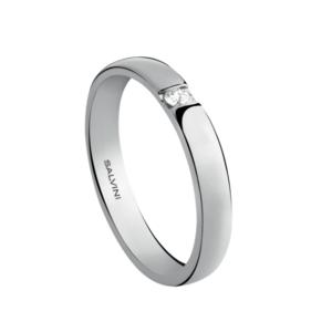 SALVINI FEDE NUZIALE FOREVER DIAMOND 2.70mm Oro Bianco Misura 13 con diamante 0.025 GH 20035185