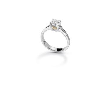 SALVINI BATTITO Anello solitario con diamante 0.305 colore F purezza VS 20074787