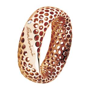 SALVINI GOLDEN CAGE Anello 9kt con diamante 0.01 colore GH 20064610