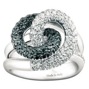 SALVINI ARMONIA Anello con diamanti bianchi e diamanti black 1.01 colore H 20029251