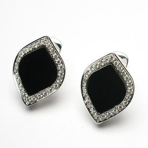 SALVINI TIMES SQUARE Orecchini con diamanti e onice nero 20021411
