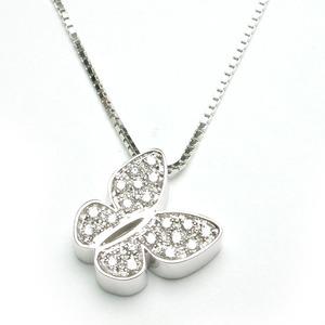 SALVINI I SEGNI Collana FARFALLA in oro bianco con diamanti 20029549