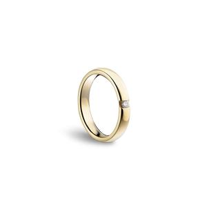 DAMIANI VERAMORE FEDE NUZIALE 3,50mm Oro Bianco Misura 12 con diamante  0.07 H 20035768