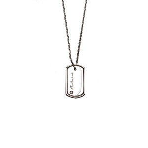 SALVINI CODE Collana Uomo Oro Bianco con diamante 0.01 H 20023061