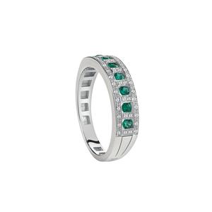 DAMIANI BELLE EPOQUE Oro Bianco Smeraldi e Diamanti Misura 15 20059730