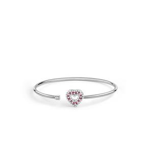 DAMIANI BELLE EPOQUE Bracciale Oro Bianco Rubini e Diamanti 20083246