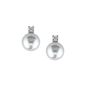 DAMIANI LE PERLE Orecchini in oro bianco perle e diamanti  20011803