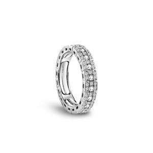 DAMIANI BELLE EPOQUE Anello Veretta intera Oro Bianco e Diamanti Misura 10-12 20063302