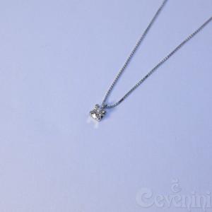 COLLANA PUNTO LUCE CEVENINI GOLD SELECTION ORO BIANCO 750‰ CON DIAMANTE TAGLIO BRILLANTE C0154