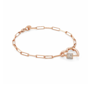 NOMINATION BRACCIALE CHARMING CON CUORE GRANDE COLLECTION CHARMING Gioiello con rivestimento in Oro Rosa 148502 007