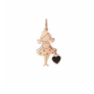 NOMINATION CHARM BAMBINA CON CUORE IN ORO ROSA Charm Charming Lei con cuore e zirconi 148522 012