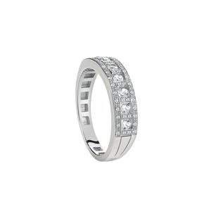 DAMIANI BELLE EPOQUE Anello Veretta Oro Bianco e Diamanti 20059565