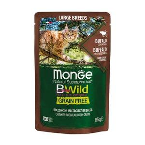 MONGE-BWild Gatto Large Breeds al Bufalo con Ortaggi