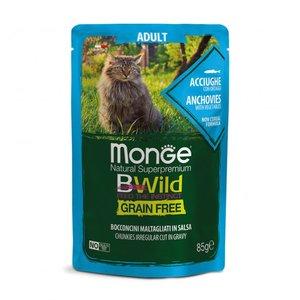 MONGE-BWild Gatto Adult alle Acciughe con Ortaggi