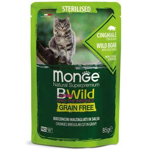 Monge-bwild gatto sterilizzato al cinghiale e ortaggi