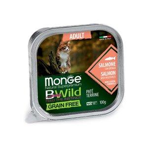 MONGE-BWild Gatto Adult al Salmone con Ortaggi
