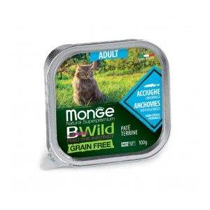MONGE - BWild Gatto Adult alle Acciughe con Ortaggi