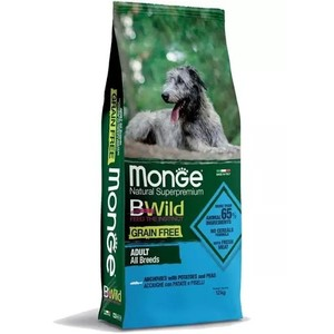 Monge - B-Wild Grain Free Acciughe, Patate e Piselli