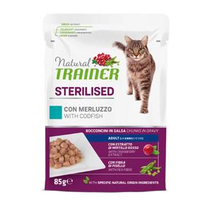 TRAINER - Natural Sterilised Bocconcini con Merluzzo