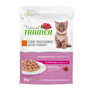TRAINER - Natural Kitten & Young Cat Bocconcini con Tacchino