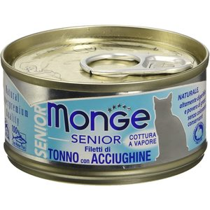 MONGE - Filettini Senior Tonno - Acciughe