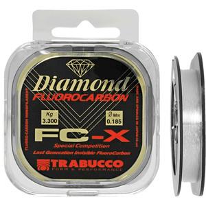 Monofilo Diamond FC-X Fluorocarbon Trabucco 50 mt 0.125 mm/ 1,75 kg