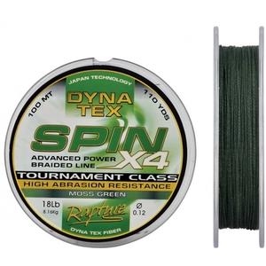 DYNA TEX SPIN X4 - Moss Green - 100mt - 0.18 mm/ 11,34 kg
