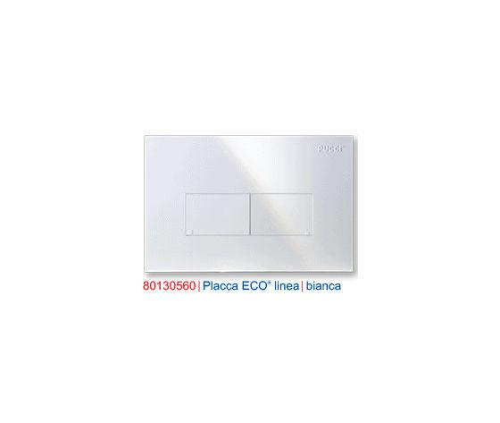 0560 PLACCA BIANCA 2 TASTI (cm 28x18) mod. LINEA PER CASSETTA INCASSO ECO PUCCI