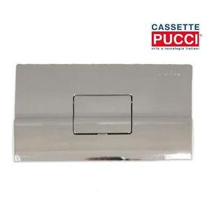 0612 PLACCA QUADRA (cm 28x18) CROMATA COMPLETA DI TELAIO PER CASSETTA mod. SARA PUCCI